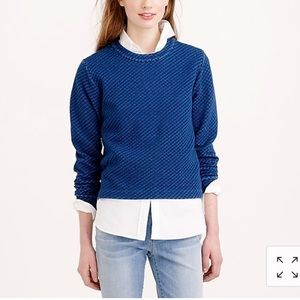 J crew quilted popover waist length top